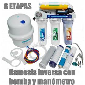 Osmosis domestica 6 etapas con bomba Moon 50G