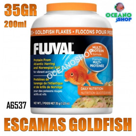 a6537 escamas agua fria goldfish fluval 35g 200ml