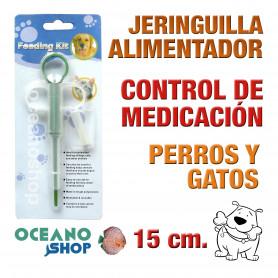 Alimentador jeringuilla perro gato medicación medicamento control