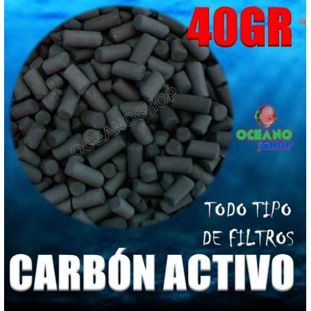 Carbón activo para acuario 40gr