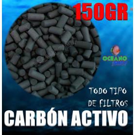 Carbón activo 150gr para acuario todo tipo de filtros