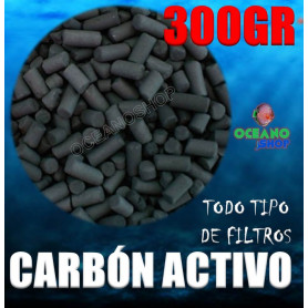 Carbón activo 300gr para acuario todo tipo de filtros