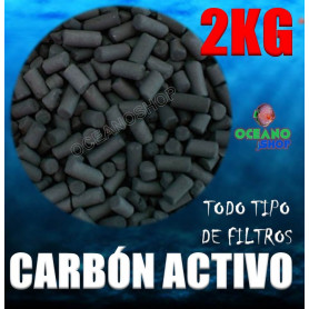 Carbón activo 2kg para acuario todo tipo de filtros