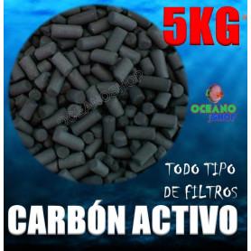 Carbón activo 5kg para acuario todo tipo de filtros