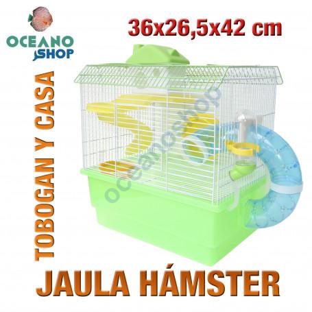 Jaula hámster pequeños roedores 36x26,5x42 cm