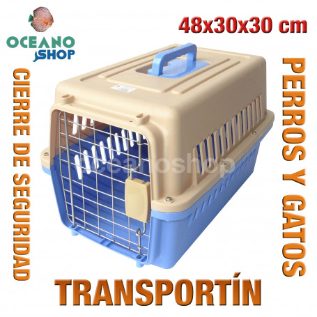 Transportín perros y gatos 48x30x30 cm