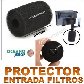 protector filtros entrada esponja foamex alevines antisuccion acuario