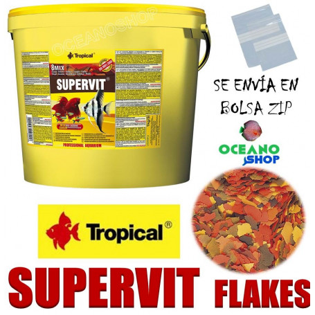 supervit tropical flakes escamas comida peces tropicales acuario barato a granel