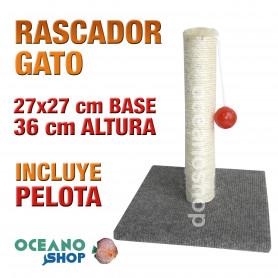 Rascador gato con pelota y base 27x27x36 cm