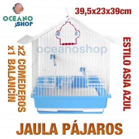 Jaula pájaros 39,5x23x39 cm