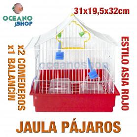 Jaula pájaros 31x19,5x32 cm