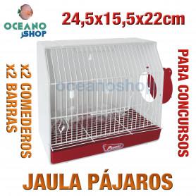 Jaula pájaros para concursos 24,5x15,5x22 cm
