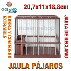 Jaula reclamo pájaros 20,7x11x18,8 cm