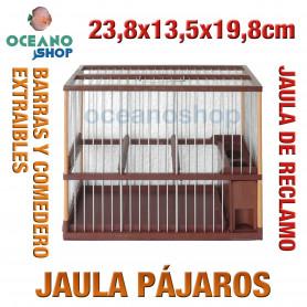 Jaula reclamo pájaros 23,8x13,5x19,8 cm
