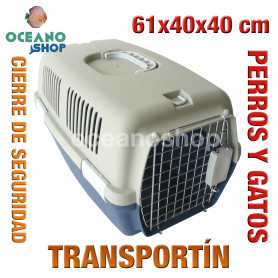 Transportín perros y gatos 61x40x40 cm