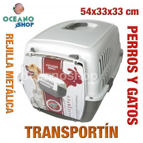 Transportín perros y gatos 54x33x33cm