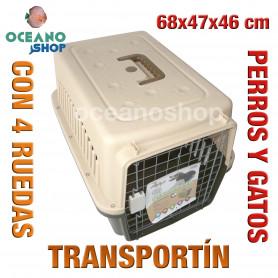 Transportín perro y gato 68x47x46 cm
