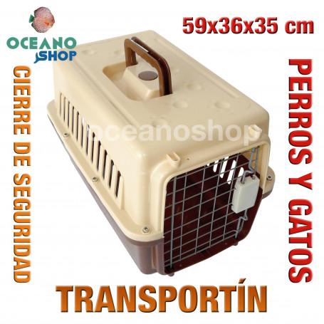 Transportín perro y gato 59x36x35 cm