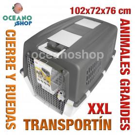 Transportín perro y gato XXL con ruedas 102x72x76 cm