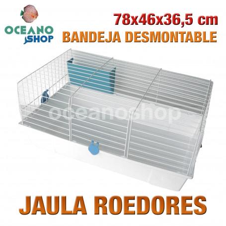 Jaula roedores bandeja desmontable 78x46x36,5 cm