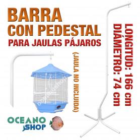 Barra pedestal jaula pájaro 74 cm diametro 166 cm altura