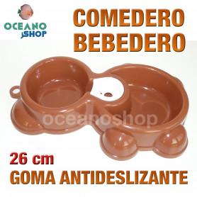 Comedero bebedero gato perro doble antideslizante 26 cm