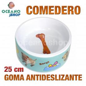 Comedero gato perro antideslizante 25 cm