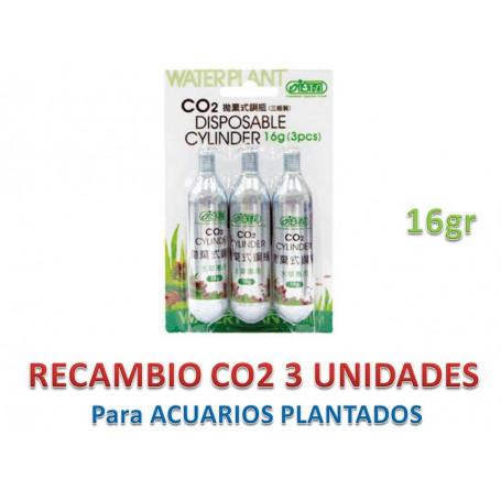 Recambio 3 cilindros CO2 16gr