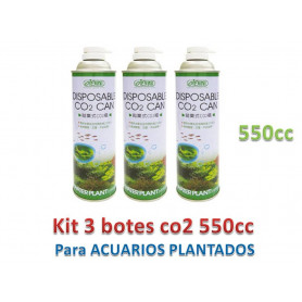 Kit de 3 recambio bote de 550cc de co2