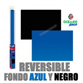 Fondo negro/azul S 60x30cm reversible aqua nova