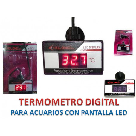 Termómetro digital led sumergible