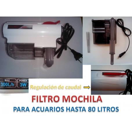 Filtro mochila 300l/h 3watios
