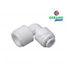 Codo conector macho 1/4 osmosis