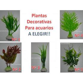 PLANTA de acuario a elegir artificial no toxicas muy decorativas