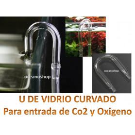 U de VIDRIO para ACUARIO Tubo de Aire Oxigenador CO2