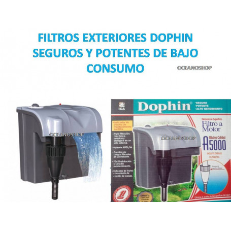 FILTRO EXTERIOR de Mochila DOPHIN A5000 400L/h 4,5W Acuario, Gambario, PECERA