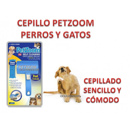 CEPILLO PET ZOOM anunciado en TV, Retractil Especial Perros, gatos