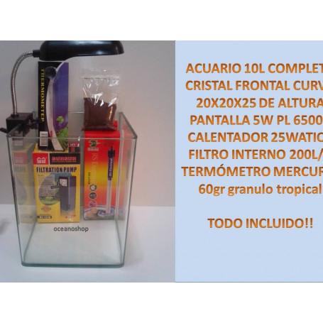 acuario Kit COMPLETO 20X20X25 de altura