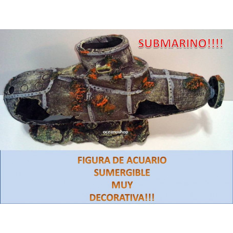 Submarino hundido figura decorativa