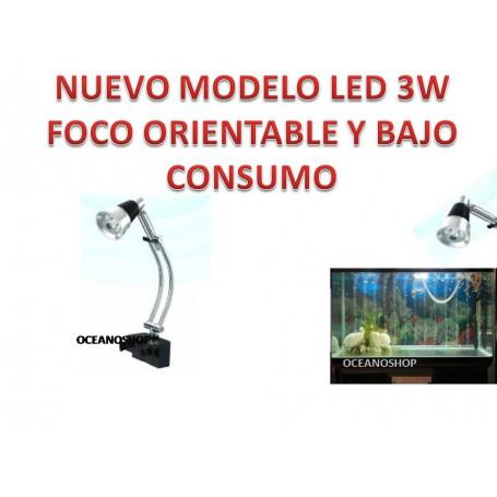 LUZ ACUARIO LED 3w en 3 leds Blancos Acuarios, Pecera, Gambario, Betteras