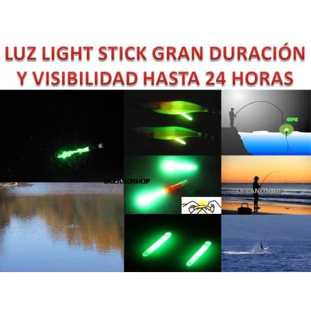 BASTONCILLOS LUZ QUIMICA Ø4.5  PESCA NOCHE FISHING STICK NIGHTLIGHT