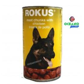 Rokus Perros pollo Lata 1,240kg
