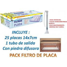 Filtro de placa con tubo de aspiracion 25 placas
