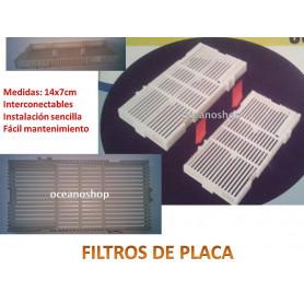 1 placa para filtro de placa 14x7cm