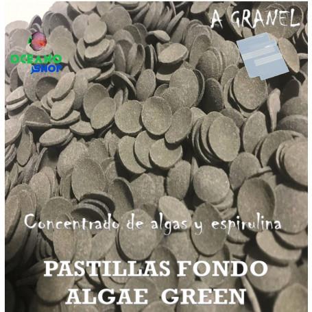 pastillas de fondo acuario algae green espirulina loricaridos coridoras ancistrus peces acuario