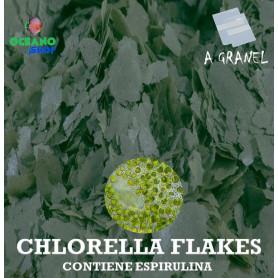 chlorella flakes escamas espirulina acuario marino ciclidos algas