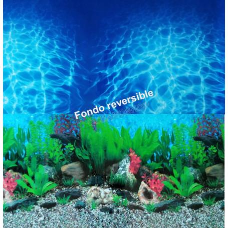 Fondo decorativo doble 100x70cm D708 ACUARIO PECERA