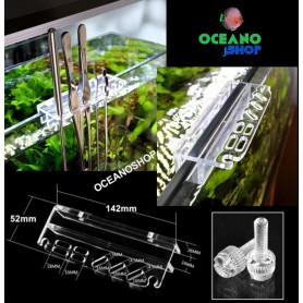 Porta herramientas aquascaping pinzas tijeras acuario mantenimiento acrilico