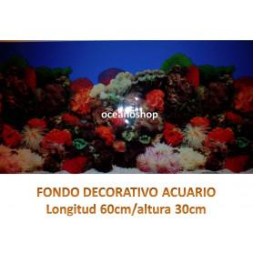 Fondo decorativo acuario 60x30cm
