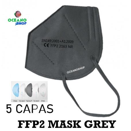 10 UDS MASCARILLAS GRIS FFP2 5 CAPAS